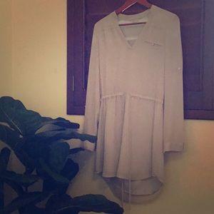 Naked zebra, gray dress. 😍